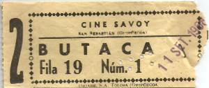 Entradas Cecilia 8 - Savoy