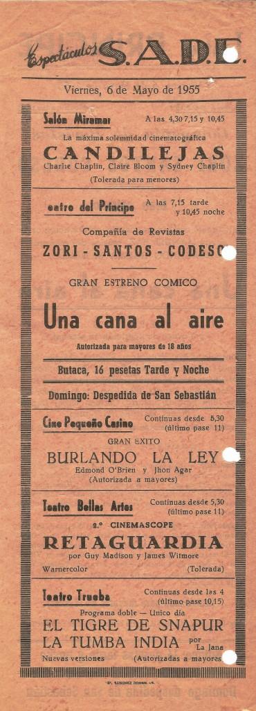 Hoja publicitaria 06mayo1955 - Paco