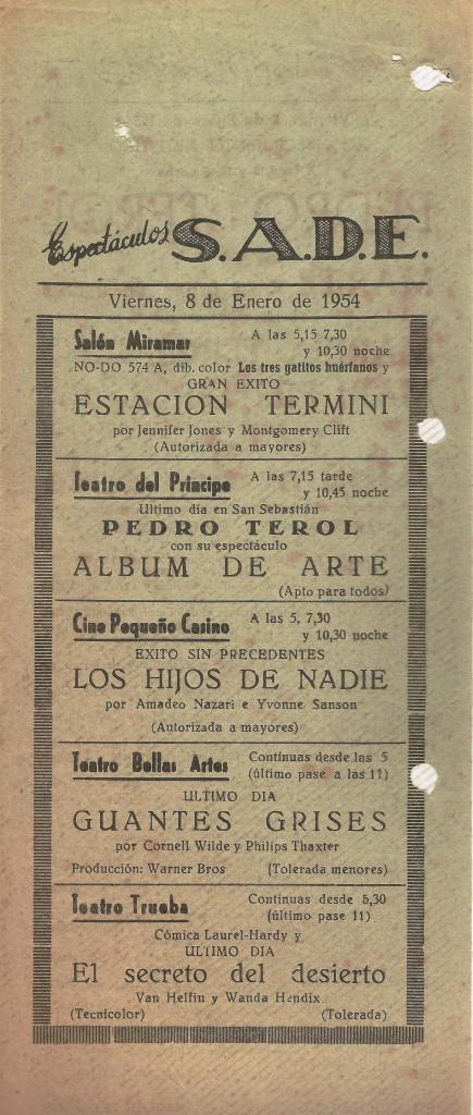 Hoja publicitaria 08enero1954 - Paco
