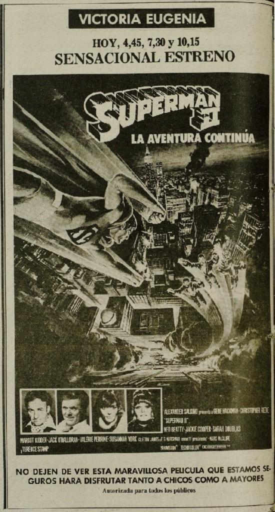 DV 16dic1980 Anuncio Superman II en VEug