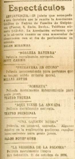 La Voz 11octubre1936 Cartelera moral.jpeg