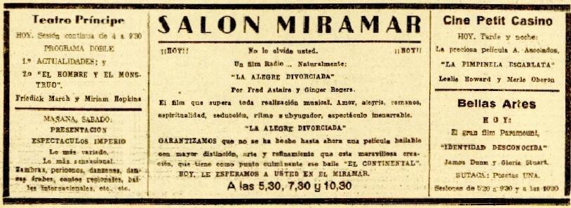 La Voz 20mayo1938 Cartelera y anuncios.jpeg