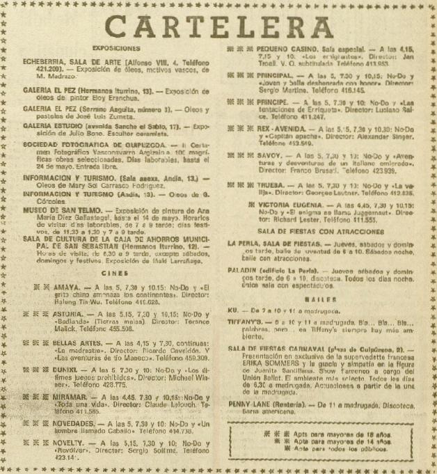 Unidad 12mayo1975 Cartelera