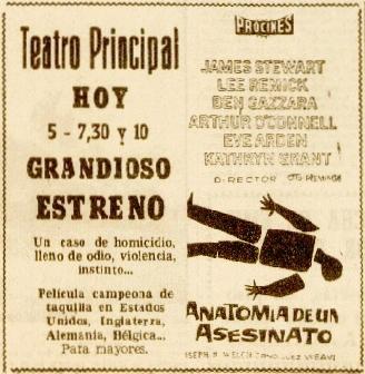 La Voz de Esp 24marz1962 Anuncio Anatomía de un asesinato.jpeg