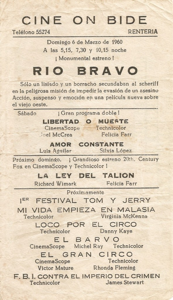 Programa Río Bravo reverso - Paco