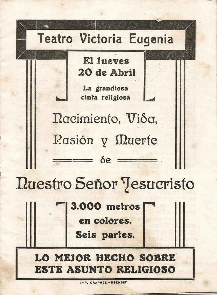 Victoria Eugenia 20abr1916 Jueves Vida pasión y muerte (1de16)