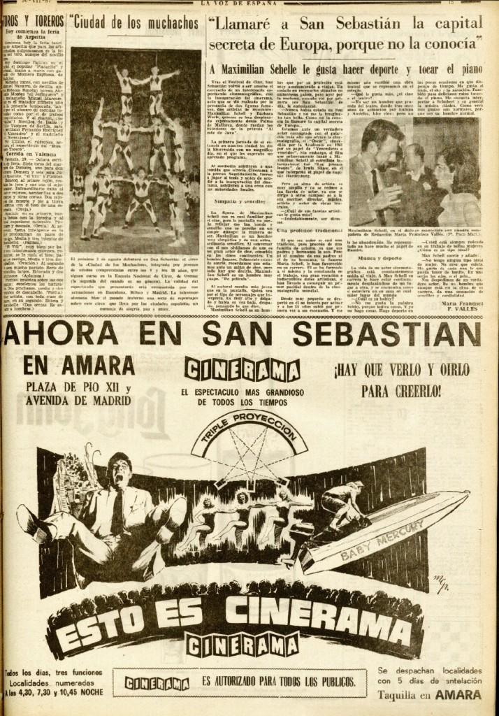 La Voz de E 30jul1967 Maximilian y anuncio.jpeg
