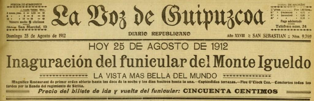 1912. La Voz de G 25ag1912 inaug funicular.jpeg