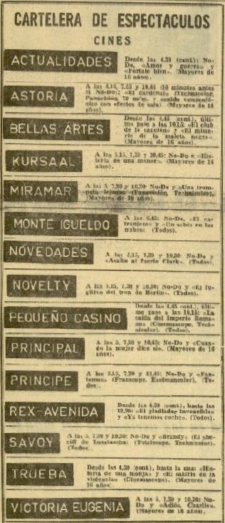 1965. DV 07jul1965 La cartelera cortada