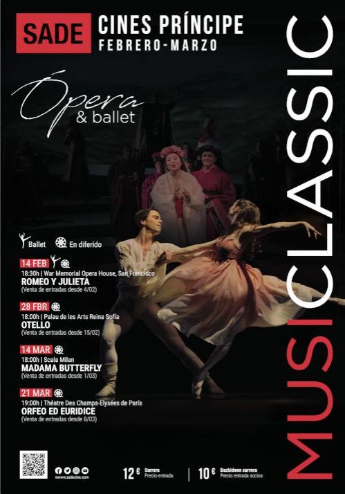 Musiclassic INVIERNO 2021 opera y ballet en Donostia San Sebastián