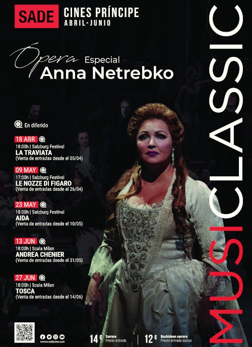 Musiclassic opera ANNA NETREBKO en Donostia San Sebastián